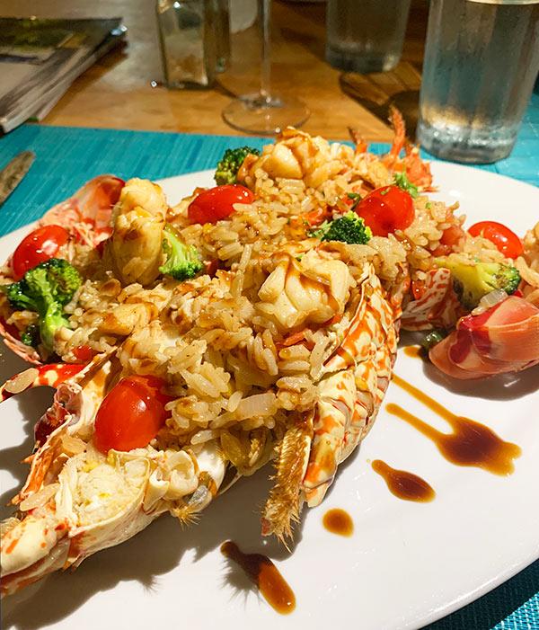 sharkys lobster stir fry