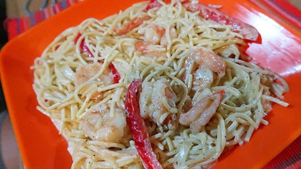 sharkys shrimp pasta