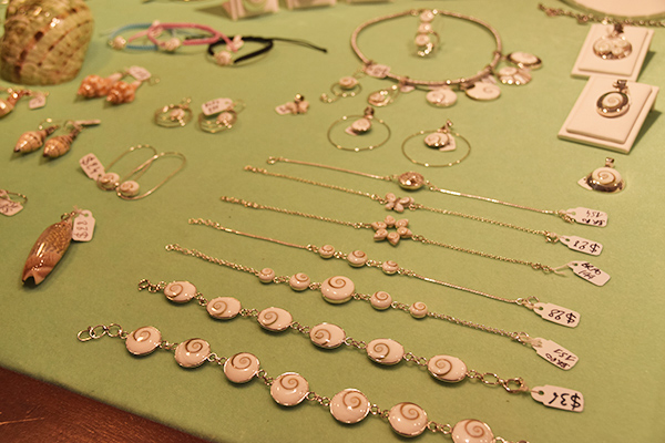 Shell jewelry at Bijoux Boutique