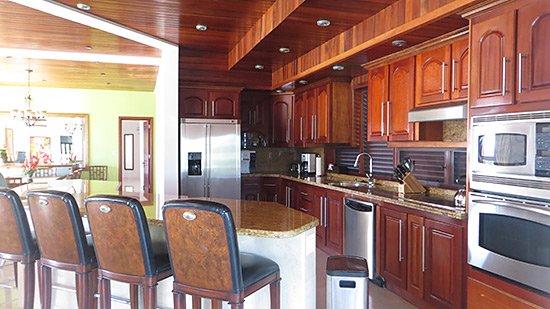 gourmet kitchen inside sheriva