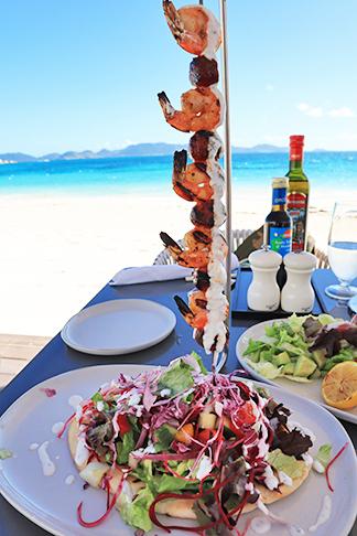 Shrimp & Chorizo Brochette at The Beach Bar and Grill at Cuisinart