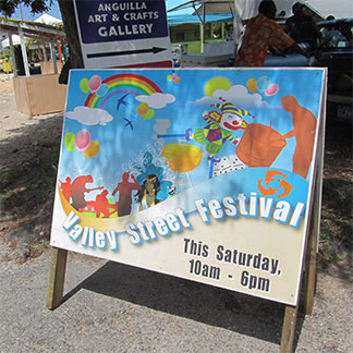 sign for valley street fair anguilla