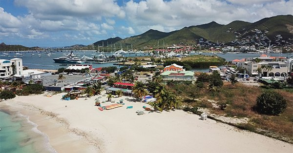 Simpson Bay from the Sky