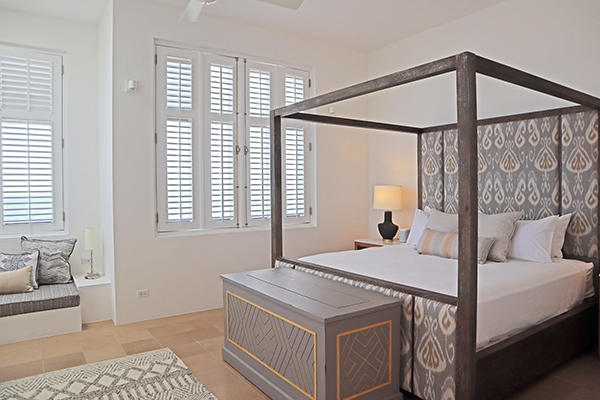Master bedroom at Sky Villa, Long Bay Villas
