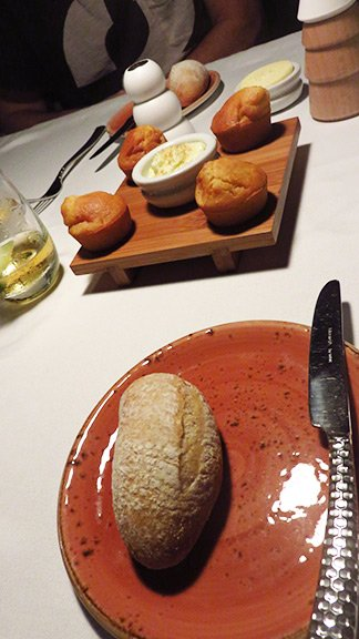 corn muffins and sourdough bread at malliouhana