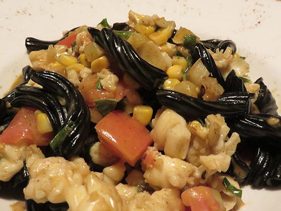 squid ink pasta at malliouhana