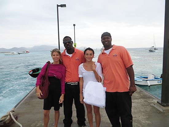 Blowing Point Anguilla Nori Kristin Brad Pitt Vince