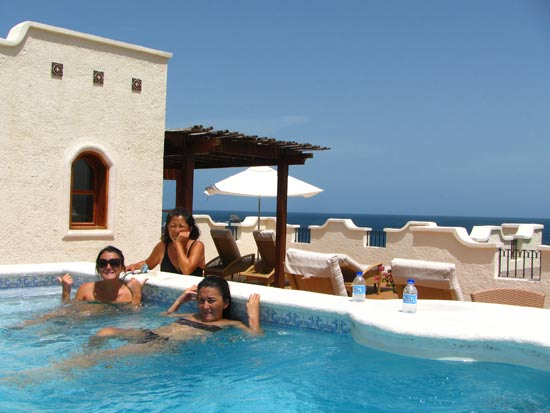 St. Lucia resorts Cap Maison roof top terrace