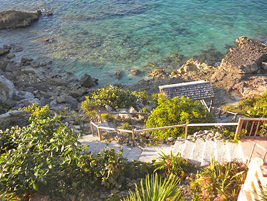 steps to the sea from villa hibernia
