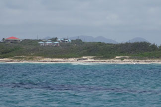 mountains of st martin seen from savannah bay