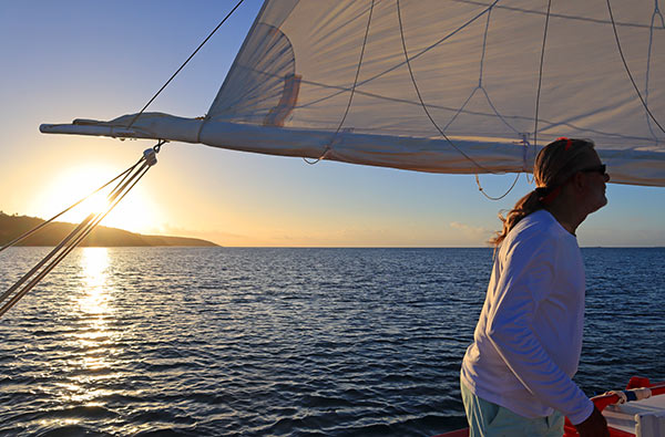tradition sailing charter sunset