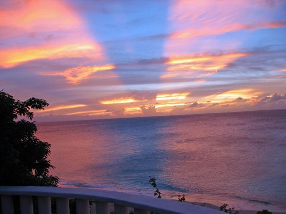 sunset at malliouhana