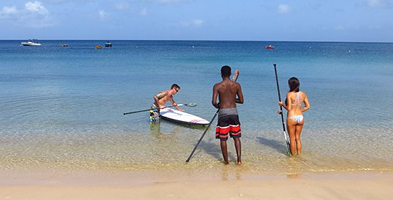 judd giving instructions for sup on crocus bay anguilla