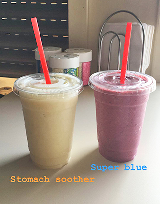 Super blue and stomah soother smoothies
