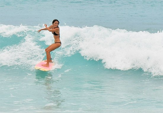 surfing small waves at meads