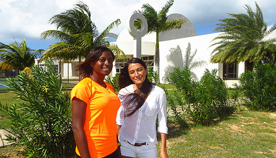 outside anguilla tennis academy