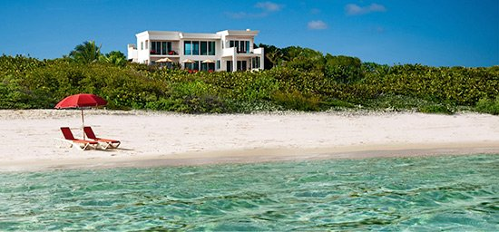 tequila sunrise villa from the beach