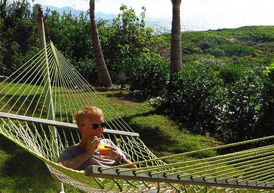 tequila sunrise anguilla  hammock