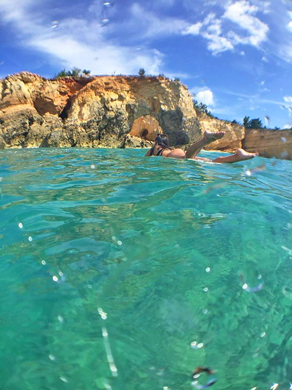 anguilla arch as seen from the water