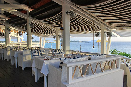 the dining room at the restaurant at malliouhana