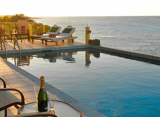 the large pool at villa hibernia