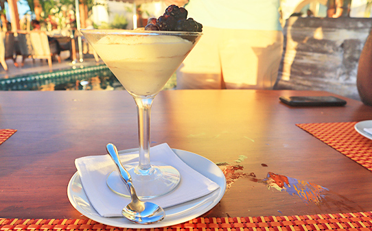 Tiramisu at Maundays Club at Belmond Cap Juluca