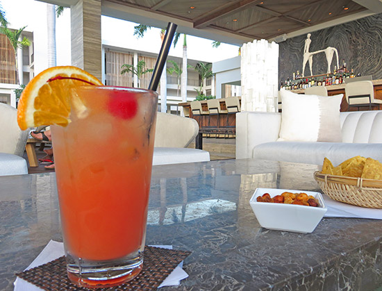 top secret rum punch at sunset lounge four seasons anguilla