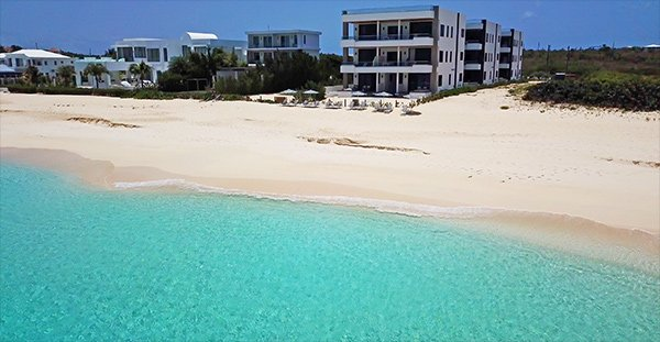 tranquility beach anguilla aerial view