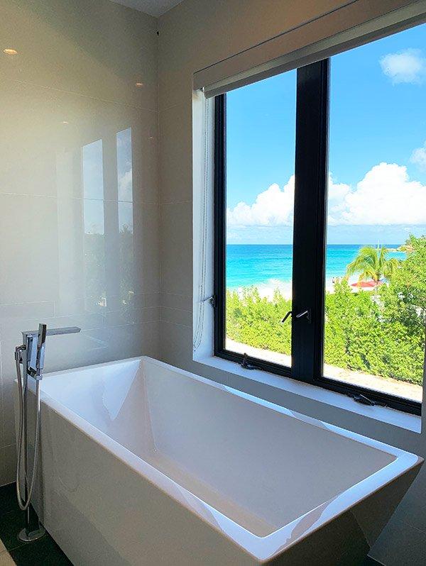 bathroom view tranquility beach anguilla