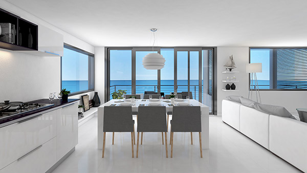 tranquility beach interior dining room