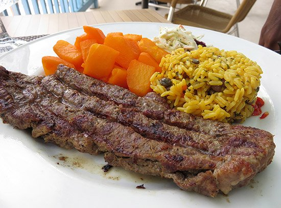 steak from tropical sunset