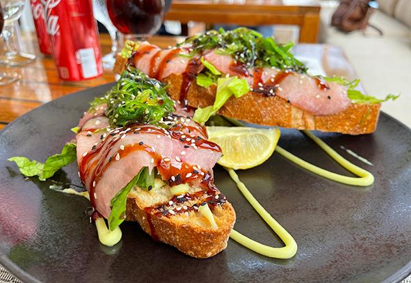 Sashimi Tuna Sandwich at Holland House