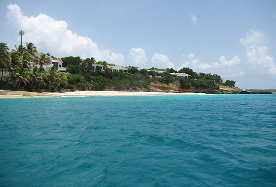 turtle cove from the sea