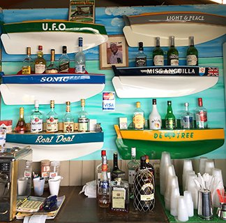 bar inside uncle ernies beach bar