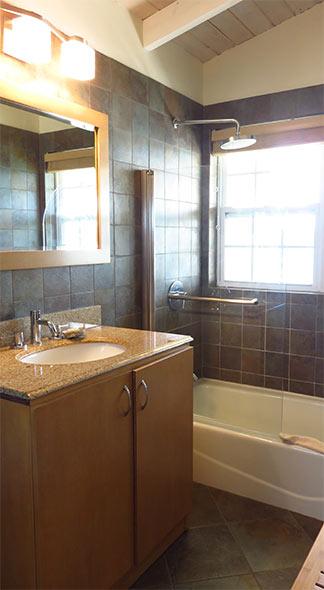 renovated bathroom at arawak
