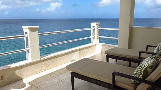 outdoor seating area in sunset beach house