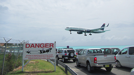 us airways landing princess juliana airport