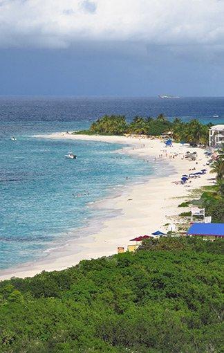 view of anguilla's shoal bay east beach from zemi beach resort