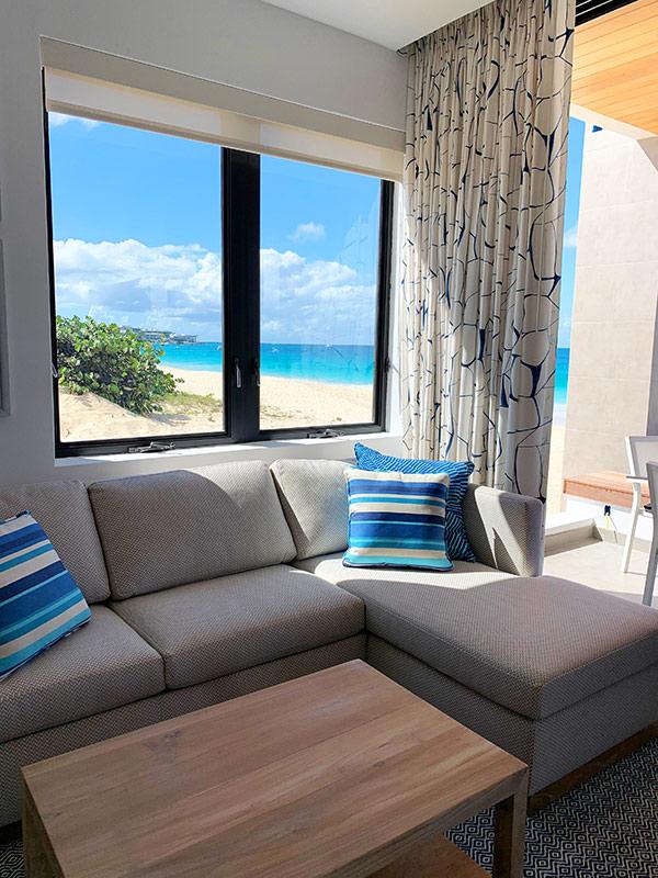 inside villa a at tranquility beach