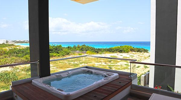 tranquility beach anguilla villa c western view