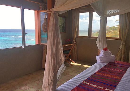 master bedroom at villa hibernia