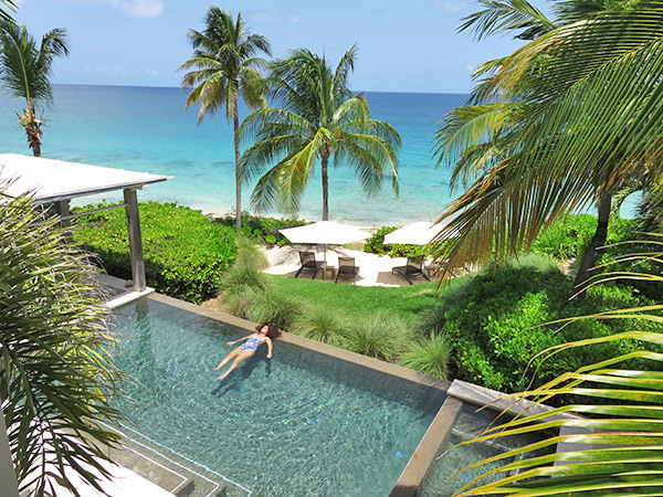 Villa Pool with Beach view
