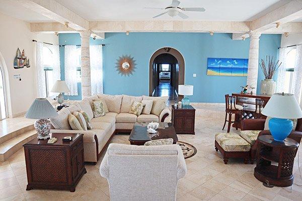 interior living room at villa soleil