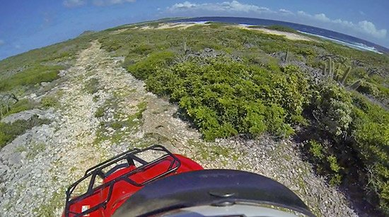 approaching windward point on our atv rental day