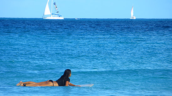 waiting for waves in tortola