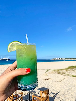 Waves rum punch on meads bay