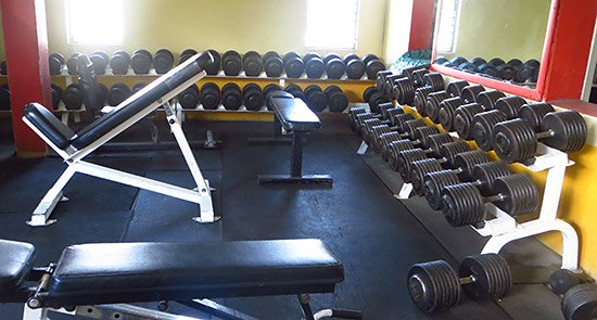 more weights at dungeon gym