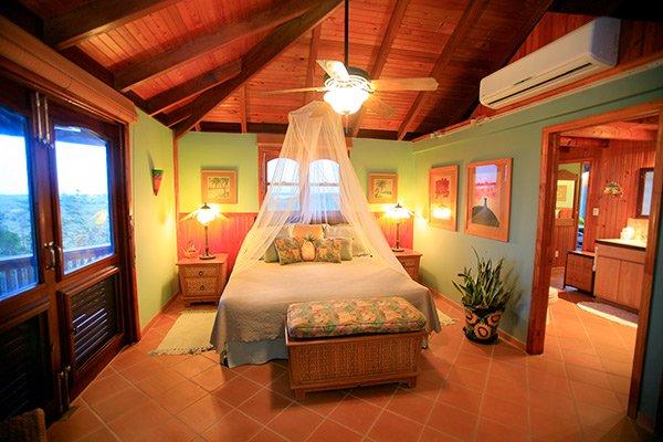 guest bedroom inside wesley house rental in anguilla
