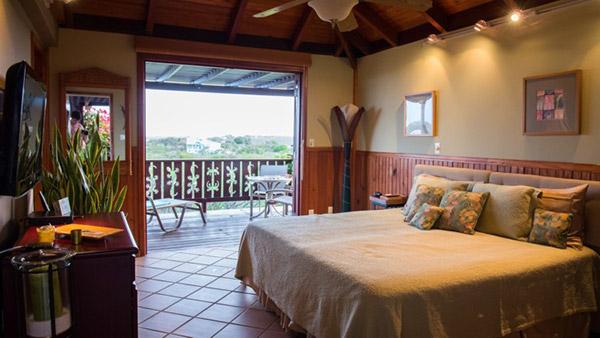 third bedroom at wesley house villa