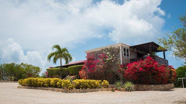 arriving at wesley house anguilla villa